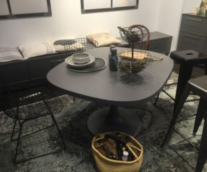 irregular dining table in black