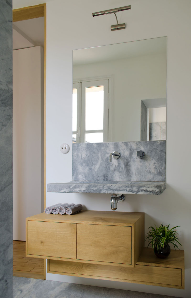 A big Little nest bathroom vanity
