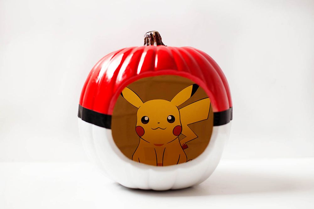 Amazing Pokemon Pumpkin Carving and painting