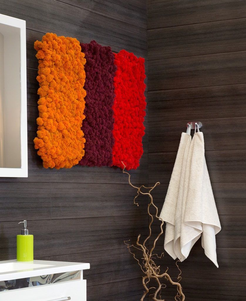 Interior bathrooms are particularly difficult for indoor greenery and Polarmoss is a great solution.