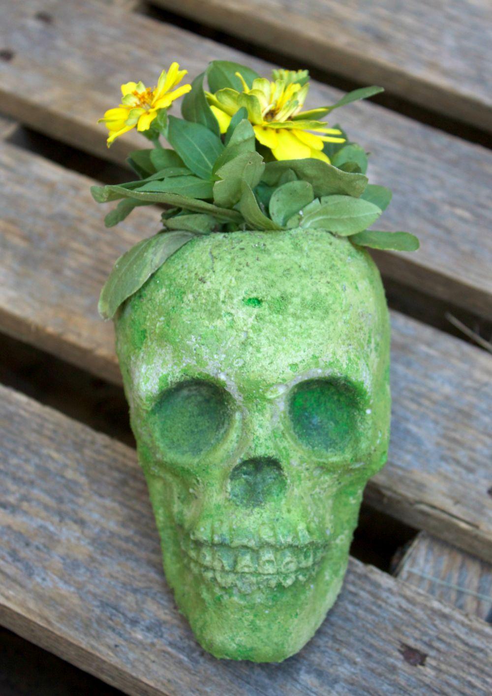 cement-skull-planter