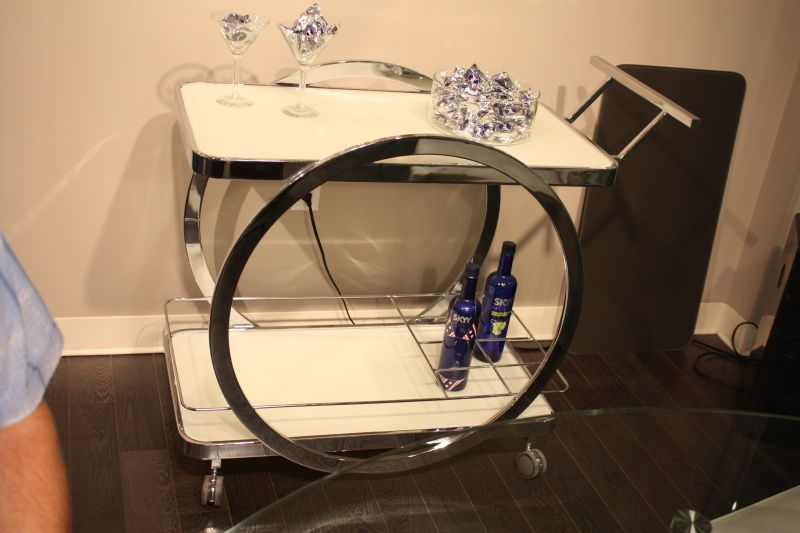 contemporary-bar-cart-with-chrome-base