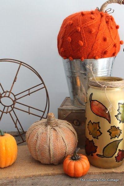 Creating a burlap pumpkin
