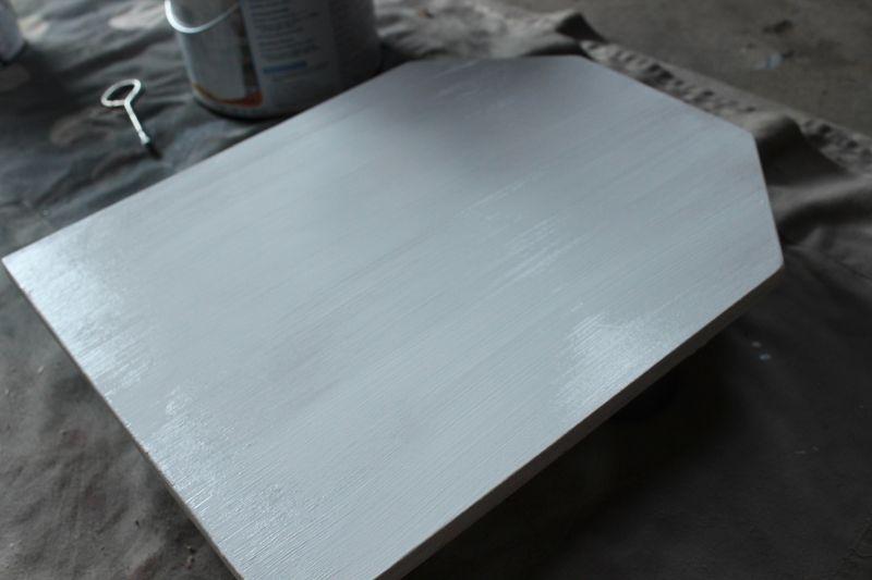 DIY Chalkboard Tombstone - primer dry