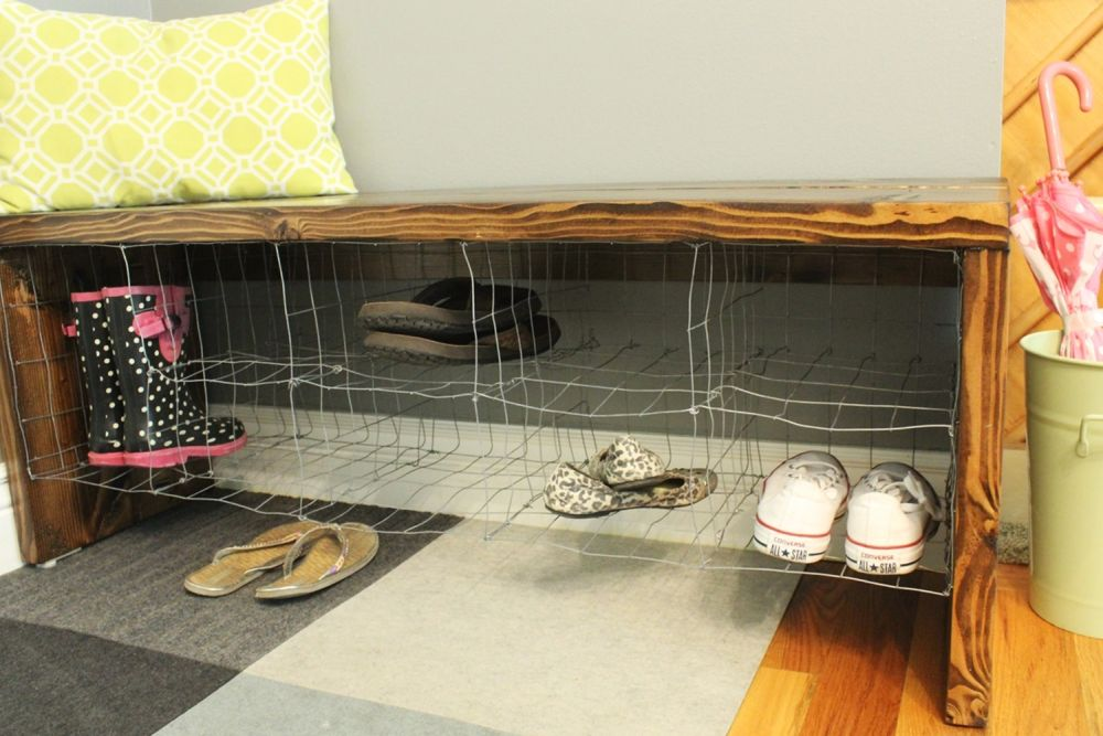 DIY Industrial Bench - Build shoe storage