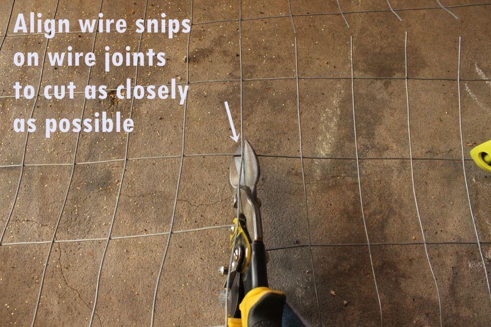 DIY Industrial Bench-align wire