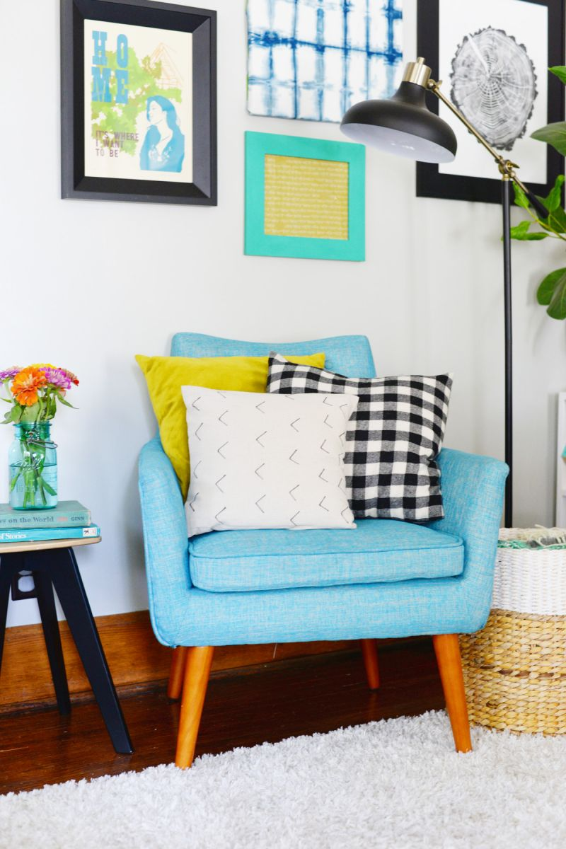 DIY Mud Cloth Inspired Pillow Chair