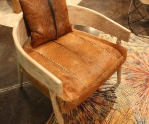 Dovetail hair hide curved chair