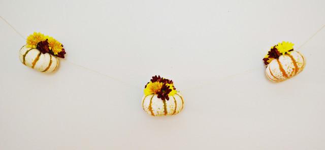 Floral pumpkin hanging