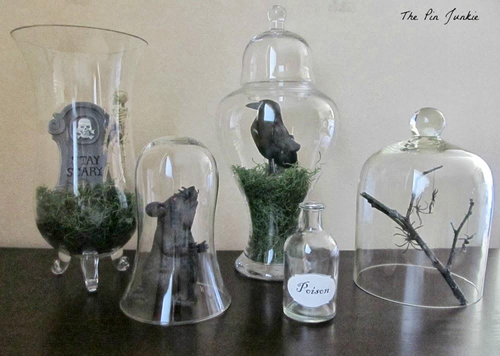 Halloween moss vases