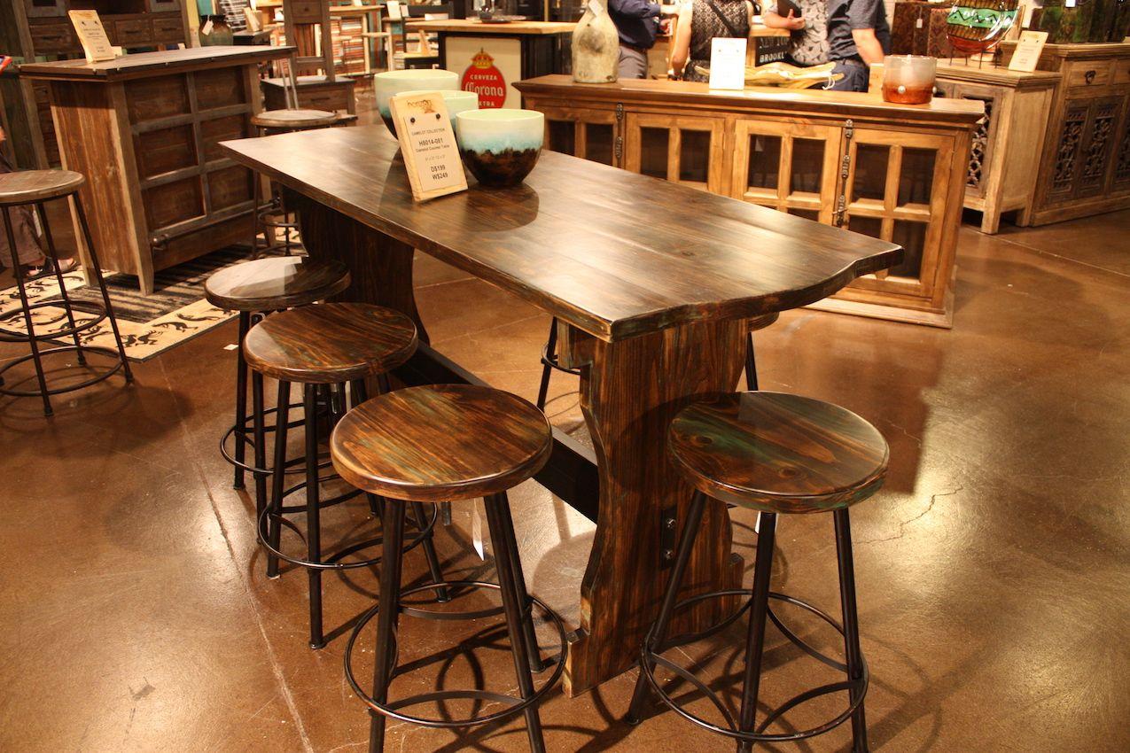 Horizon Bar Stool with Wood Top