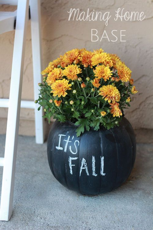 Its fall pumpkin flower vase