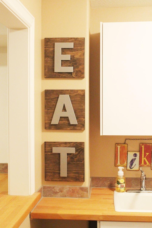 Kitchen Decor Eat Letters