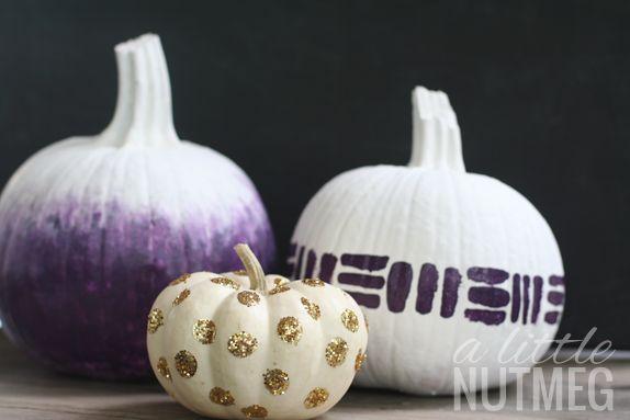 Ombre purple pumpkin