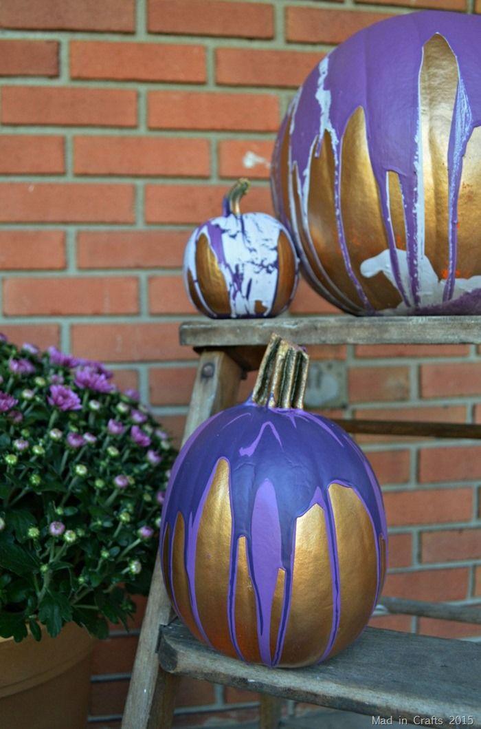 Paint Drip Blue Pumpkin