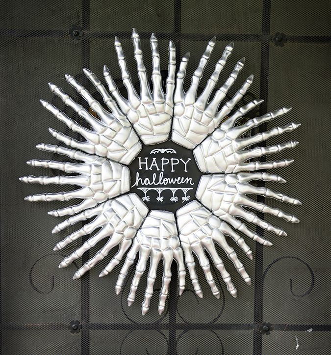 Skeleton Hands Halloween Wreath