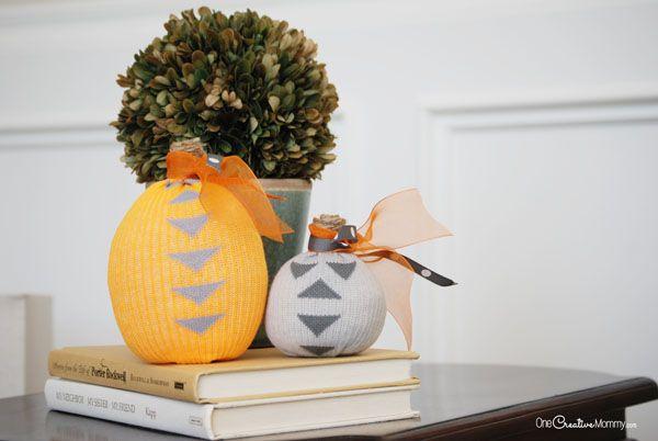 Turn shoks into cool pumpkind decorations