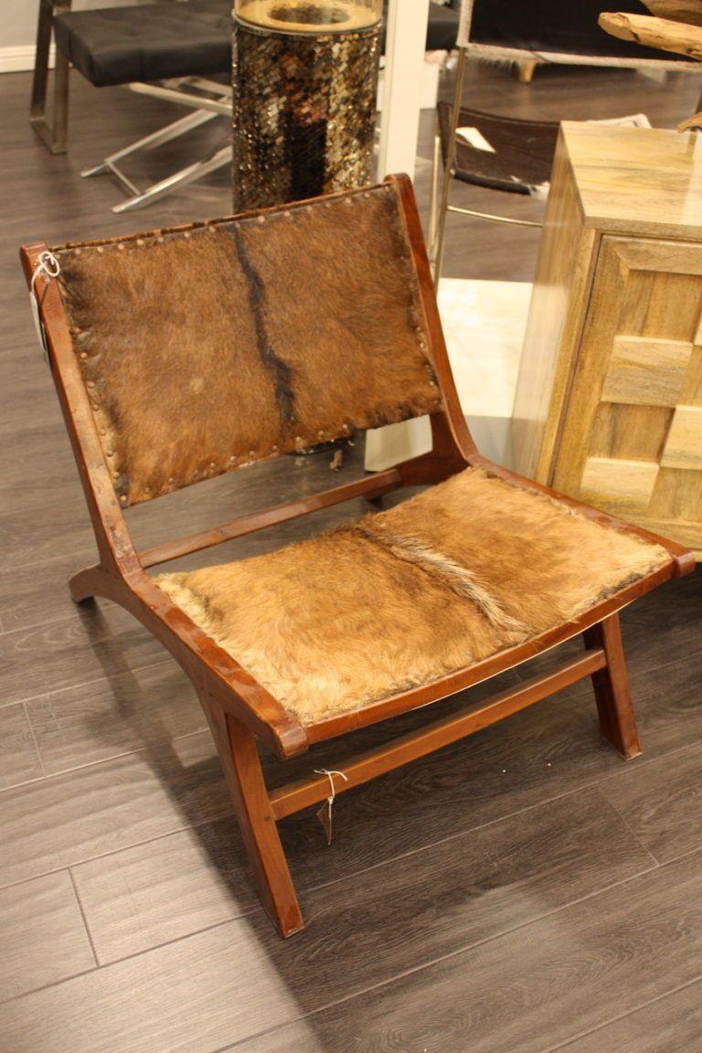 UMA hair on hide chair