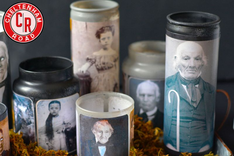 Vintage ghosty candles