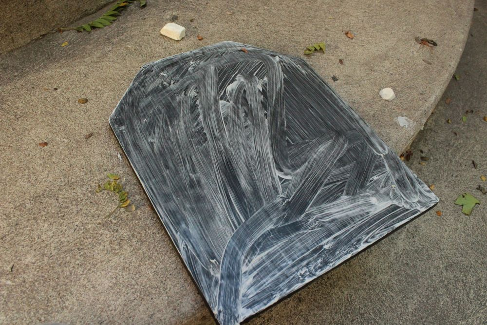 entire chalkboard painted surface