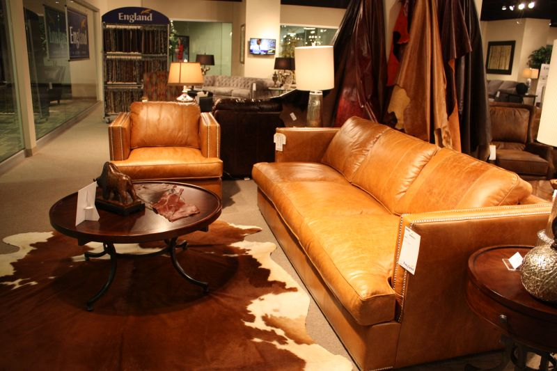 Brown Faux Leather Sofa