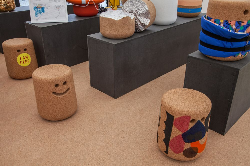 Casper cork stool - side table