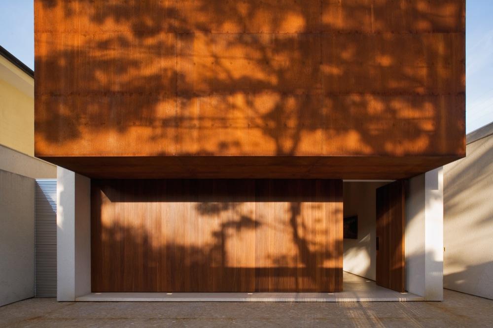 Corten House Entrance