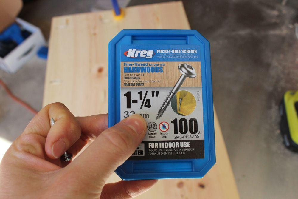 DIY Industrial Rolling Cart -Kreg screws