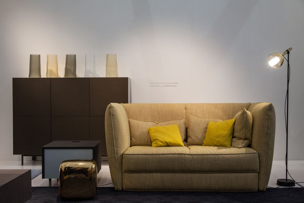 Green Ligne Roset collection Softly couch