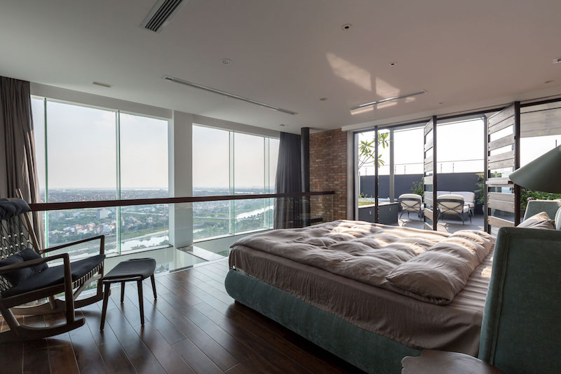 Penthouse Ecopark bedroom view