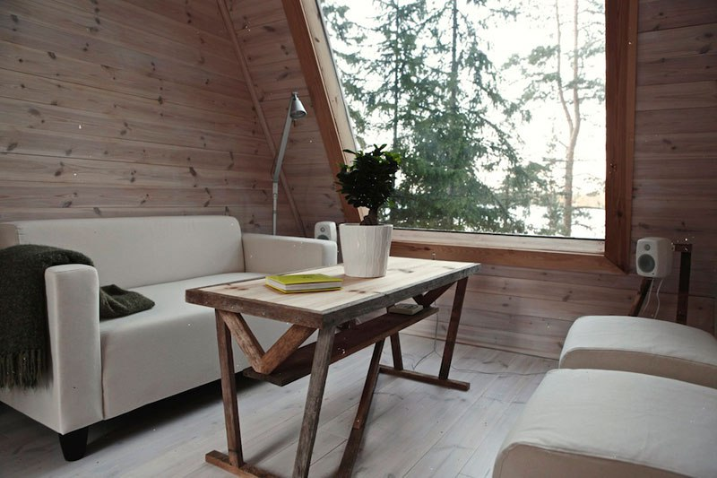 Small forest cabin Finland - interior - Copy