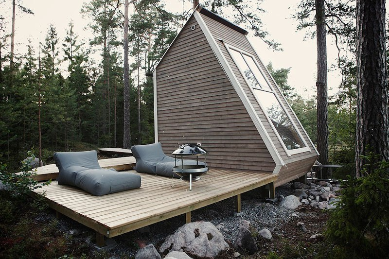 Small forest cabin