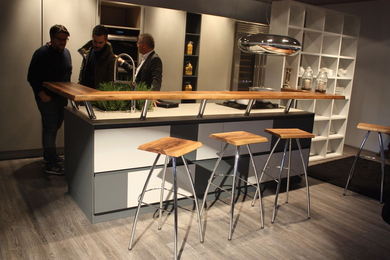 Spagnol's raised counter bar design is useful as serving, dining and staging space.