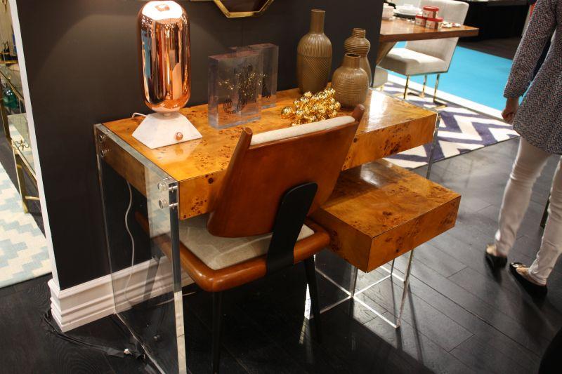 Unique desk with acrylic base