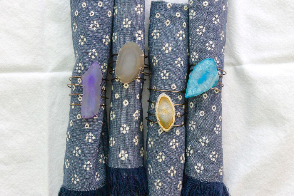 Agate Napkin Rings