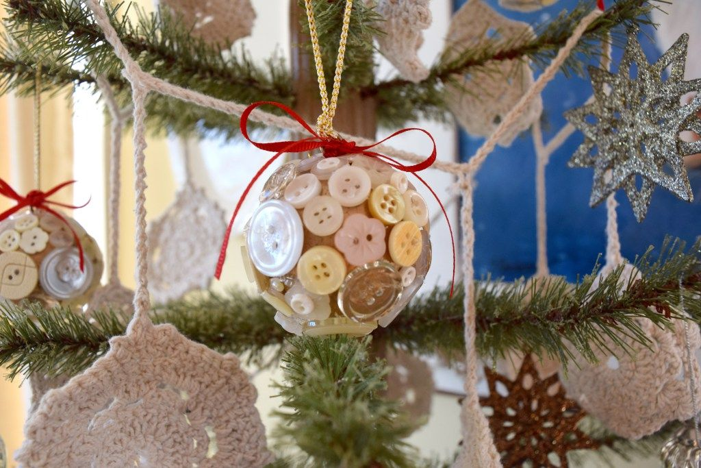 Buttons Christmas Tree Ornaments