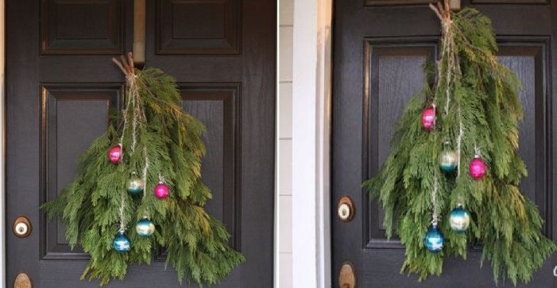 Christmas Holiday Door Swag