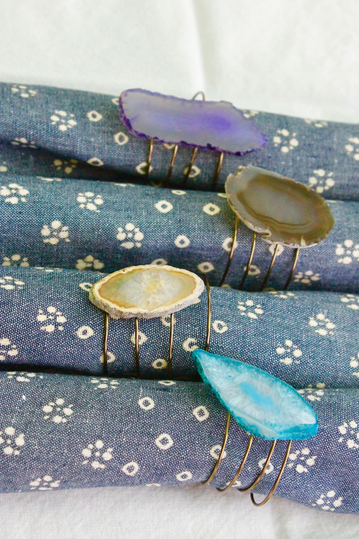 Classic Agate Napkin Rings