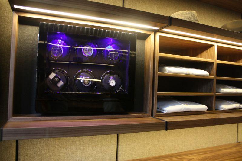 Closet watch storage compartment