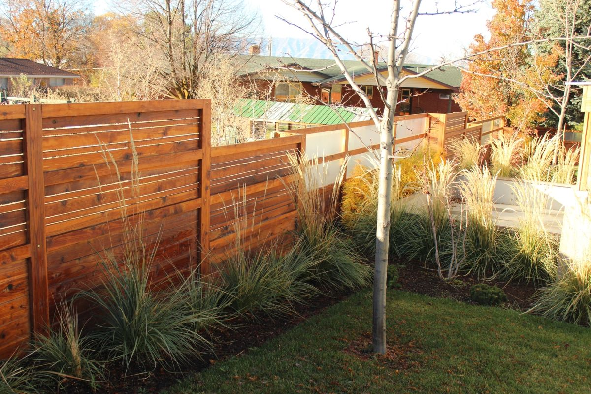 Curb Appeal - wood fence and trees