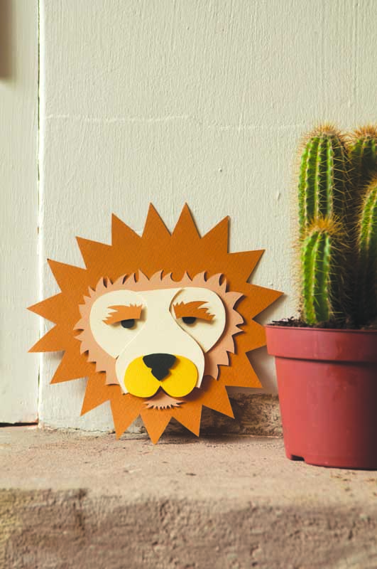 DIY 3d lion art