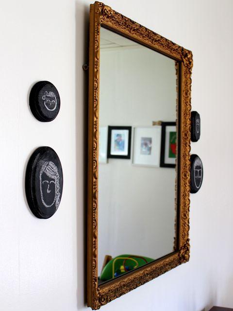 DIY chalkboard silhouette