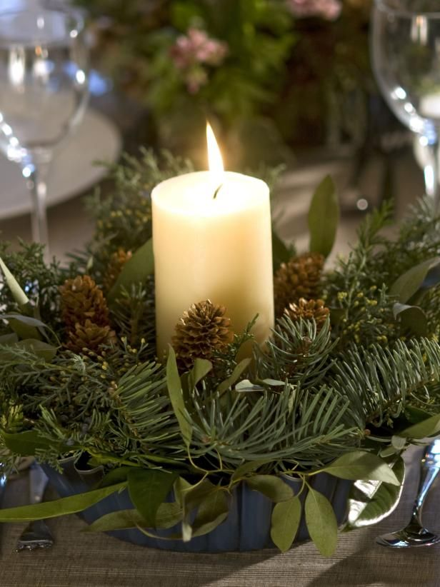 Evergreen Table Centerpiece