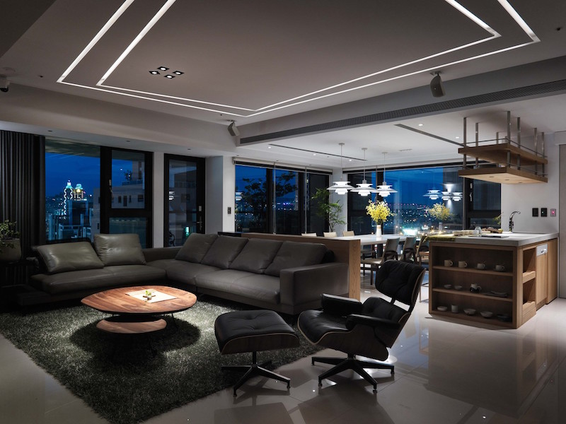 Jade apartment open social area