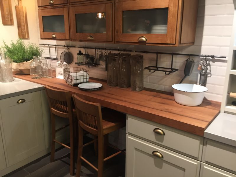 Kitchen bar height table