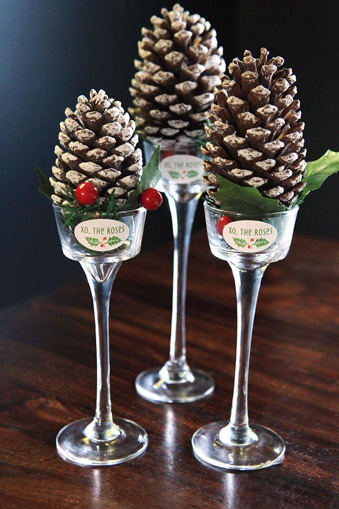 Mini pinecones glamour