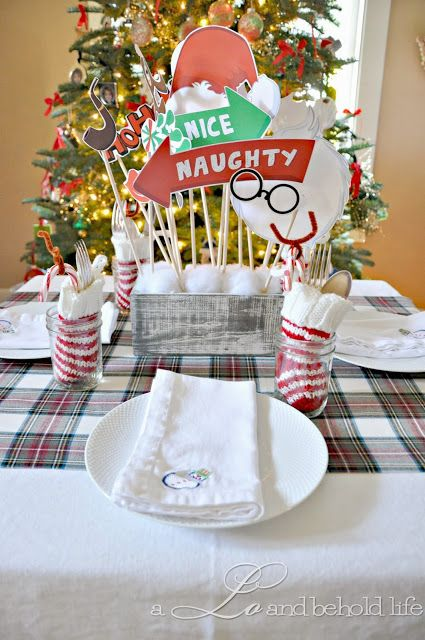 Pop Centerpiece for Christmas Table Decor