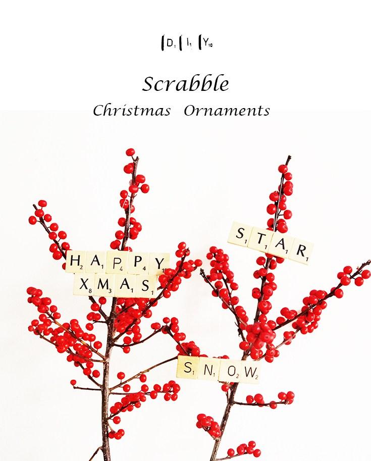 Scrabble Christmas Tree Ornaments