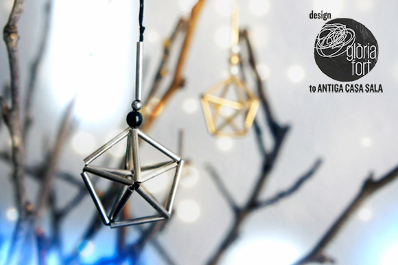 Small Tubes Christmas Tree Ornaments