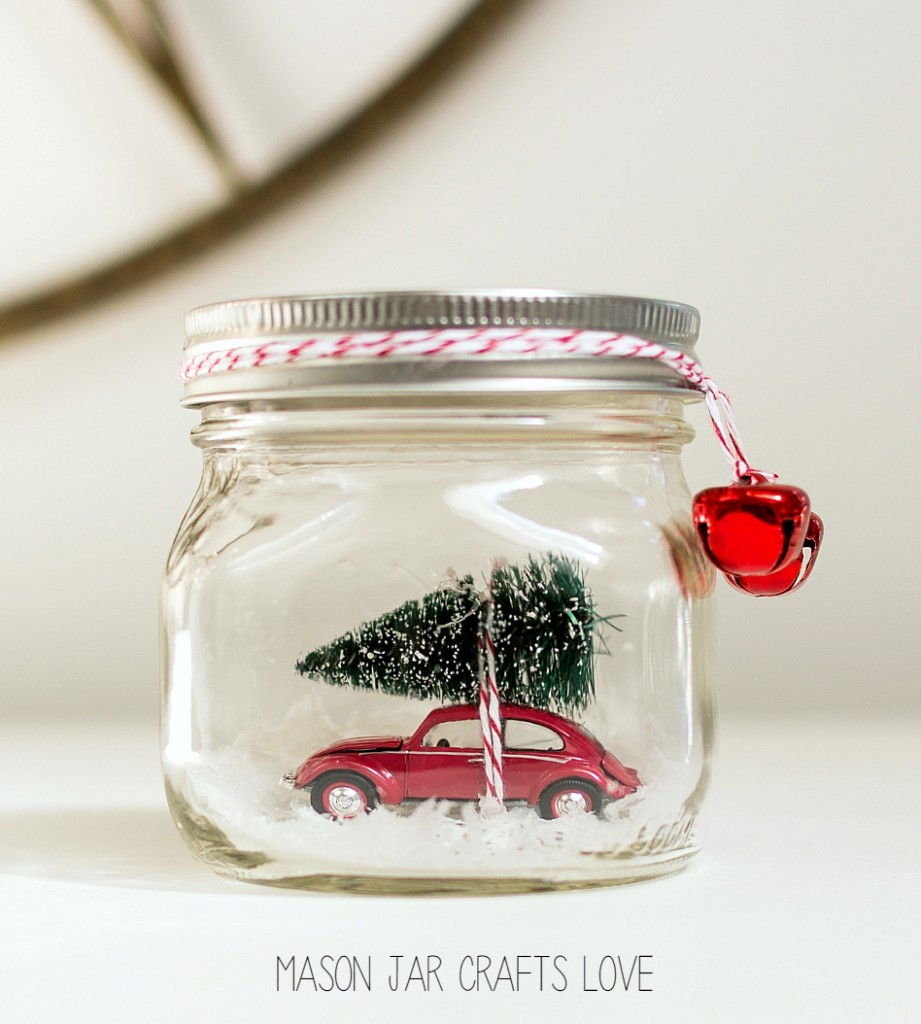 Snow Globe for Christmas with a car inside
